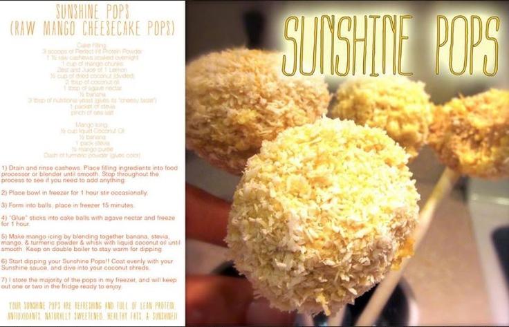 Sunshine Pops #PerfectFitProtein | Recipes | Pinterest