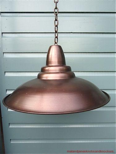 Funky-Style-Industriel-antique-cuivre-bronze-plafonnier-abat-jour-loft-usine