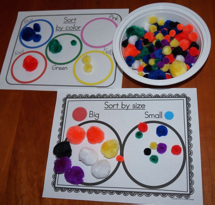 12 Pom Pom math centers - Numbers and quantities to 20, 2D shapes, patterns, sorting, more/less, addition, subtraction and more! Hands-on fun your students will love! Easy setup and clean up.
