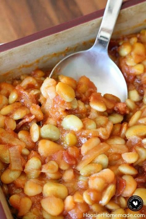Change up the ordinary Baked Beans Recipe with these Barbecued Lima Beans Recipe! Just 5 simple ingredients is all you need! Perfect for all your Summertime cookouts, potlucks and parties! Be sure to save by pinning to your Recipe Board!