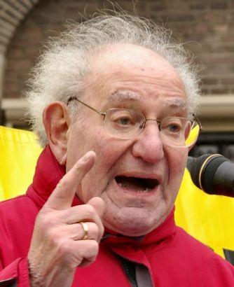 † Hajo Meyer (90) 23-08-2014 Antizionistische activist en Auschwitz-overlever.