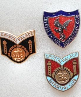 Редкие, очень старые, эмалевые знаки английский профессиональных футбольных клубов:ФК Кристал Пэлас