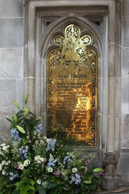 Jane Austen Memorial in Winchester Cathedral, England