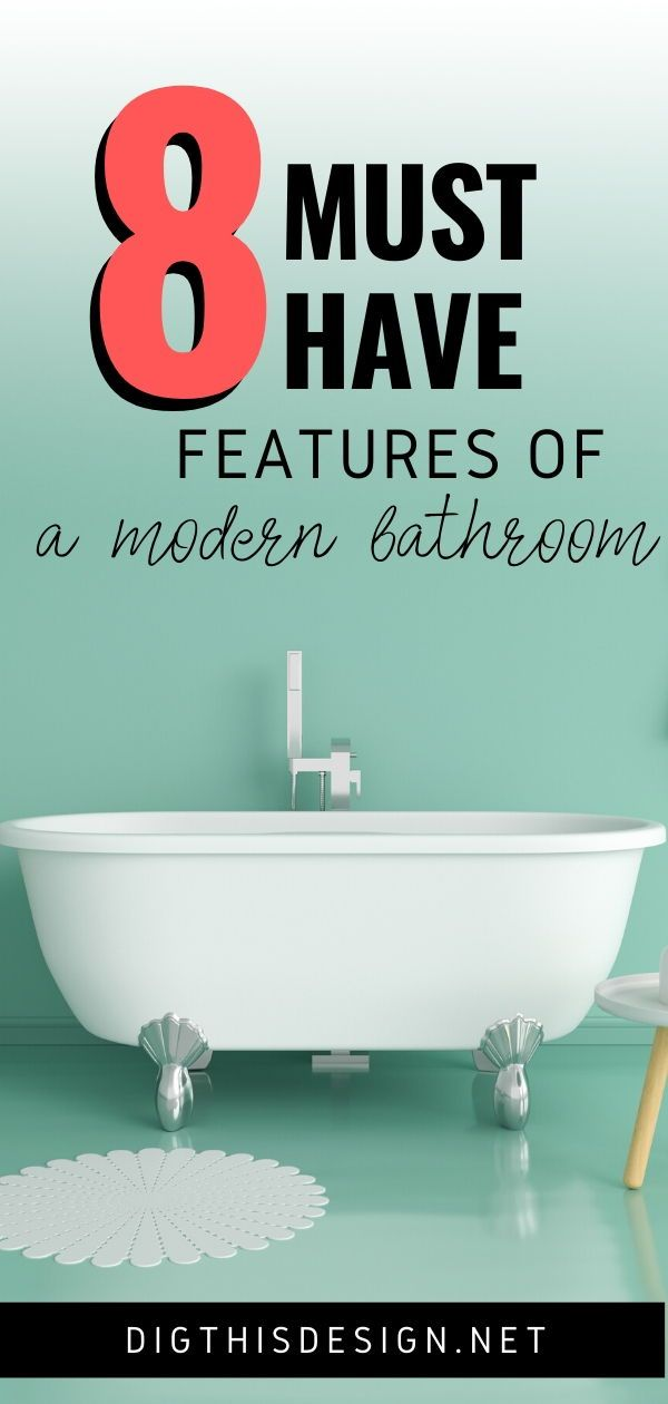 8 Must Have Features Of A Modern Bathroom Modern Bathroom Interior Design Meaning Home Design Diy