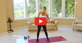 You only need one dumbbell and a little bit of floor space for this seriously effective routine.