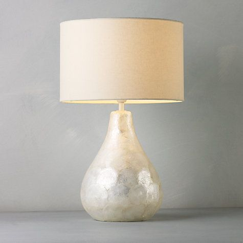 This cream pearl table lamp design by John Lewis can add some simple style to any sleep sanctuary