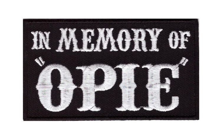 In Memory of OPIE Sons of Anarchy Biker Vest Costume Patch