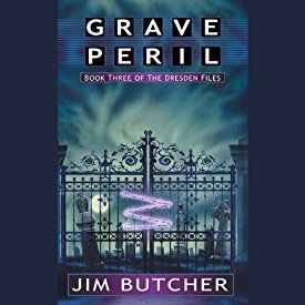 "Another must-listen from my #AudibleApp: ""Grave Peril: The Dresden Files, Book 3"" by Jim Butcher, narrated by James Marsters."