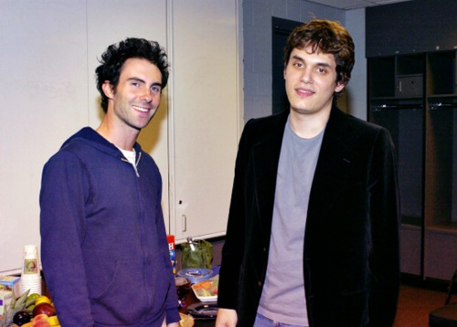 Adam Levine and John Mayer. They look so young here!