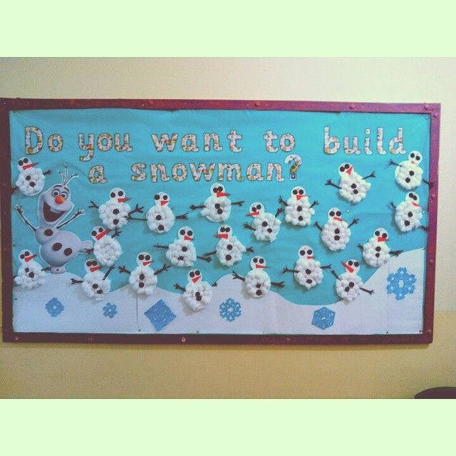 Frozen Themed Bulletin Board Christmas Time Primary