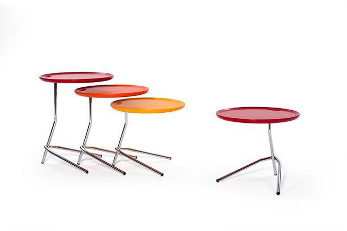 Il tavolino Roma può essere alto, medio o basso; è equilibrato, cambiando colore, cambia stile.