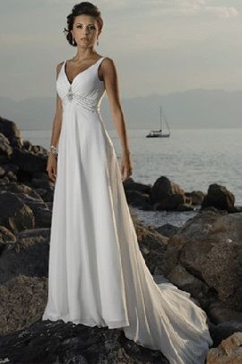 casual beach wedding dresses. not for annee but this would be perfect for any bride that has a destination planned wedding