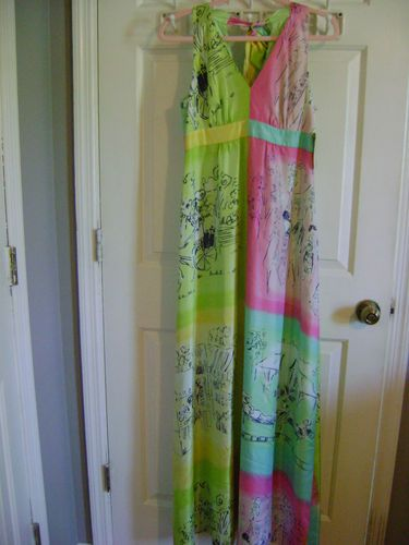 NWT Lilly Pulitzer Petra Long Halter Silk Dress 78238 Sz 6 | eBay  NWT Lilly Pulitzer Petra Long Halter Dress  Style# 78238  Retail: $328  Beautiful Silk Novelty Dress with Gorgeous Lime Green Silk Lining  Zipper in Back