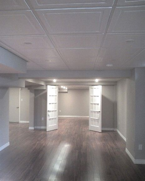 Beautiful floors wonderful drop ceiling idea #BasementFinishing