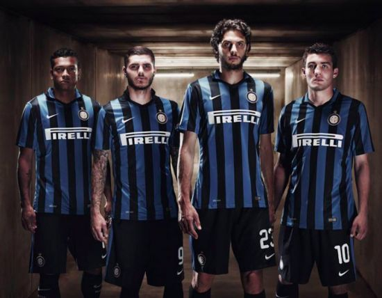 Inter's 2015-16 home kit launch.