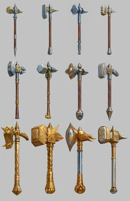Warrior priest concept weapons - Game: Warhammer Online