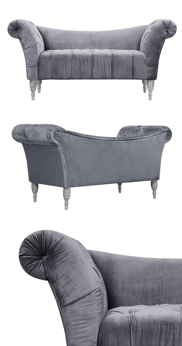 We've found it: the manifestation of the lap of luxury. Allow yourself to unwind in a truly sophisticated fashion with this stunning Shenandoah Settee. Beautifully upholstered with soft velvet fabric, ...  Find the Shenandoah Settee, as seen in the 1920s Paris Collection at http://dotandbo.com/collections/1920-s-paris?utm_source=pinterest&utm_medium=organic&db_sku=116964