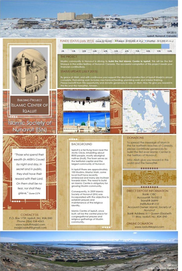 Islamic Society Of Nunavut   Working To Build First Islamic Centre In Nunavut