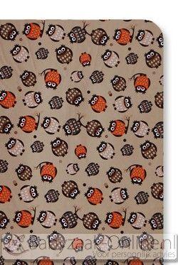 Cottonbaby Uil Bruin Hoeslaken Ledikant 60 x 120 cm