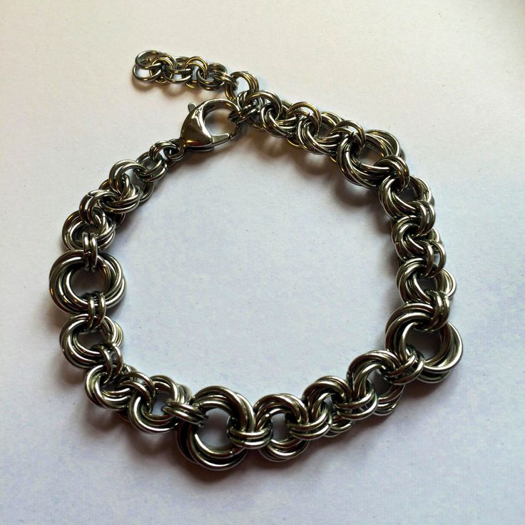 Mobius ring chainmaille bracelet by TrinketFairyDesigns on Etsy