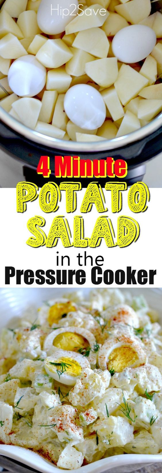 Glluten-Free Potato Salad in a Pressure Cooker Recipe