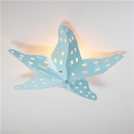 Starfish ceiling light beach theme bathroom metals and beaches - Beach themed ceiling fan ...