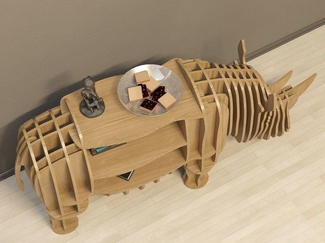 cofee table rhino 3d model max obj fbx dxf dwg 3
