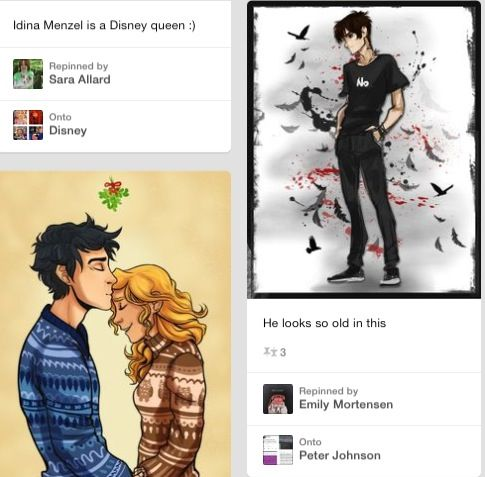 Scrolling when I see this... Look at nico's shirt, it says what he's thinking when he looks at Percabeth <-----  Lol