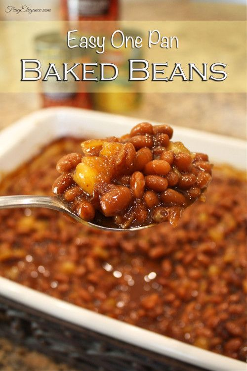 Easy One Pan Baked Beans - FrugElegance