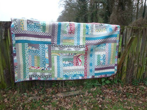 Jelly Roll Log Cabin Quilts Pinterest