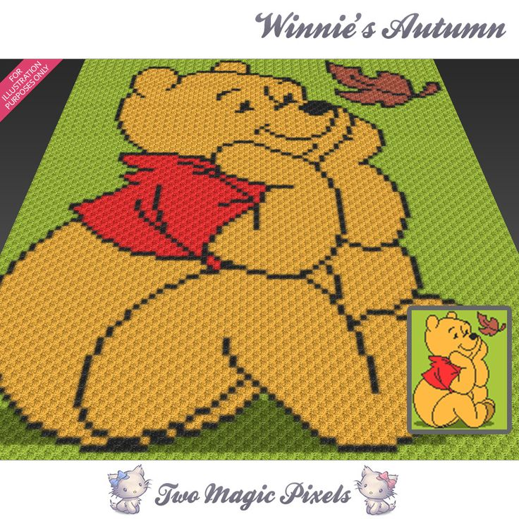Winnie's Autumn crochet blanket pattern; | TwoMagicPixels