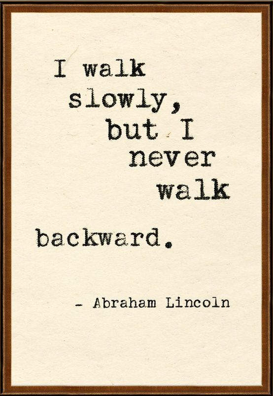 Never backward