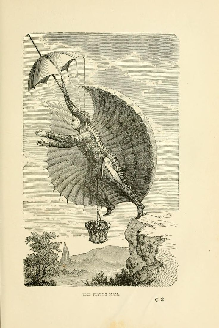 The flying man early attempts at flight from wonderful balloon ascents or