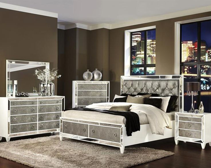 brown painted wall for contemporary bedroom sets with antique bedroom furniture design