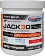 http://jack-3d-usp-labs.net/   O Jack3d Micro é o pré-treino mais vendido do mundo. Ele é feito à base de óxido nítrico. O óxido nítrico melhora todo o processo metabólico decorrente da atividade física e faz seu corpo funcionar melhor e mais rápido. A efetividade dele é tão grande, que ele foi selecionado para fazer parte da seleta lista de produtos do Suplementos24h.