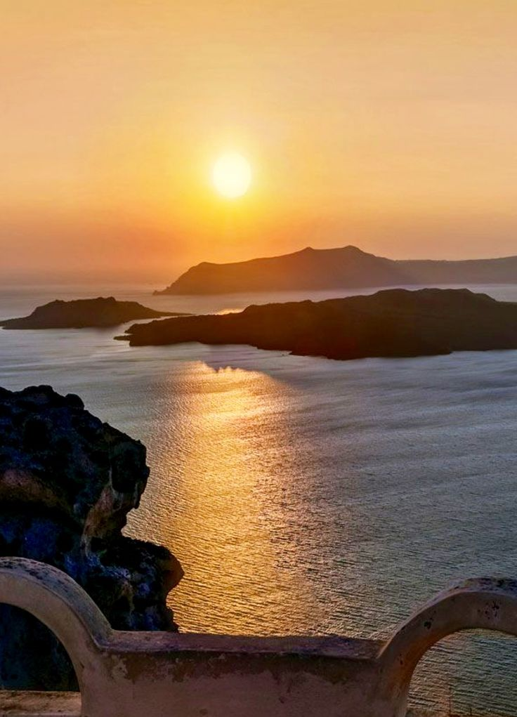 Yet another spectacular sunset over Santorini island, Greece. - Selected by www.oiamansion in Santorini.
