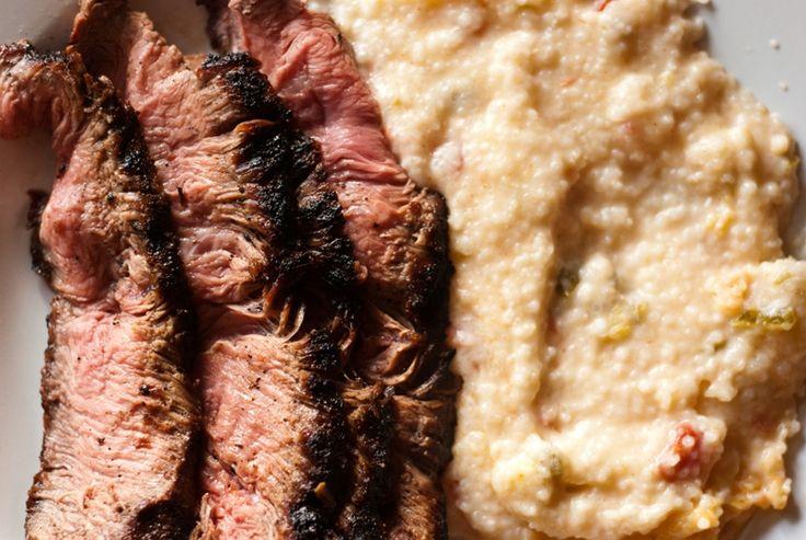Southwestern Steak and Grits | Food: BBQ,Steak,Ham,etc | Pinterest