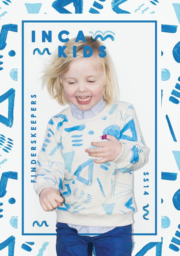 #kids #apparel #pattern #sweatshirt #blue #incakids #hipster #poster #type #wave #blue #boy