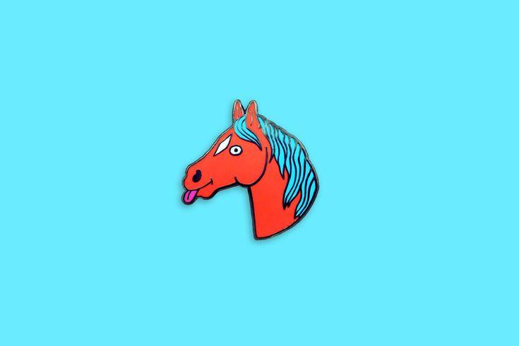 Horsey Pin // pingame // enamel pin // lapel pin