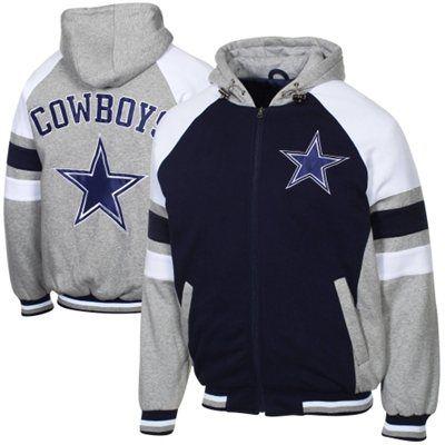 Dallas Cowboys Stripe Full Zip Hoodie