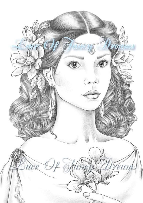 Printable Coloring Page For Adults By Tiana Lofd Pdf Jpg In