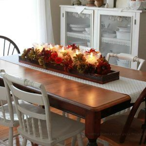 Long Dining Room Table Centerpiece