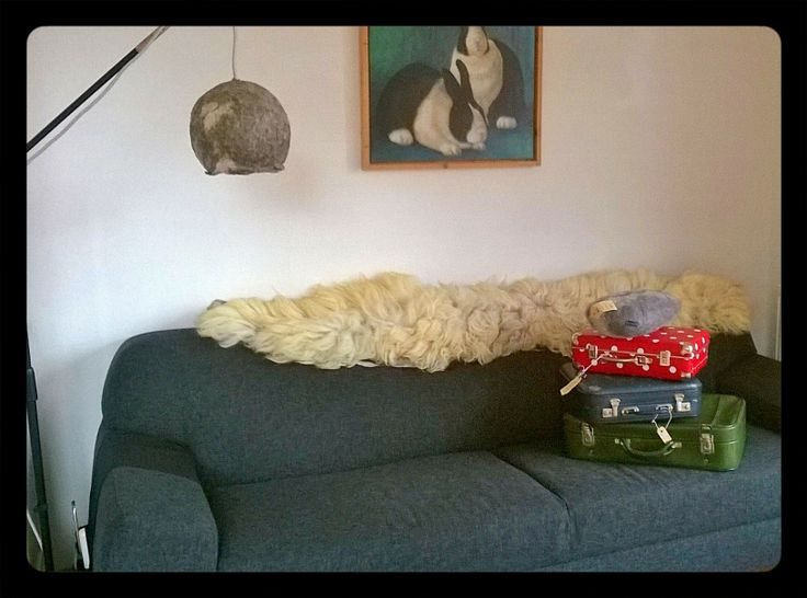 Handfelted sheepwool rug with felt base. 2mxcm.a design from Atelier 87. See facebook.
