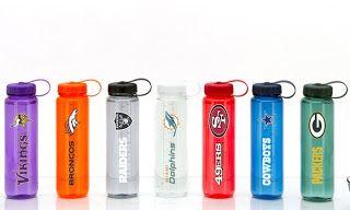 NFL Clear Plastic Water Bottles (33 or 66 Fl. Oz.)