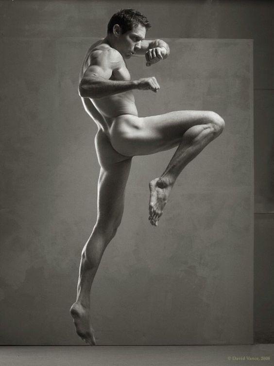 Naked male pose girls use toys