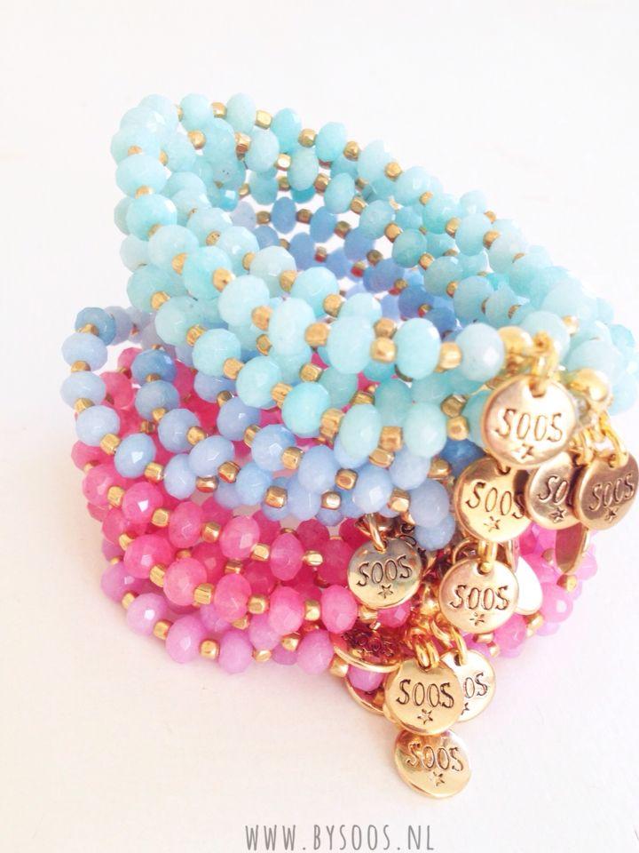 Colours! Seafoam and Roses #bracelets