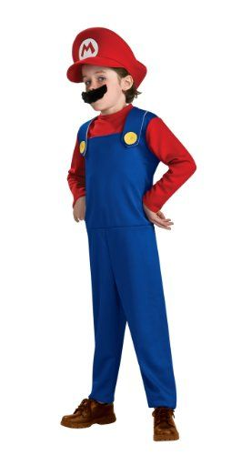 Super Mario Brothers Toddler Costume Mario Toddler (US Size 2-4)