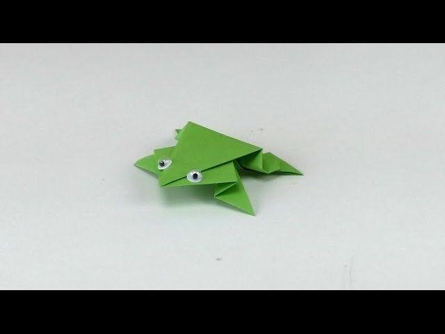 Re-upload - FROSCH Origami Tutorial. Frog Origami Folding Tutorial. Frosch Falten Anleitung #OrigamiLife