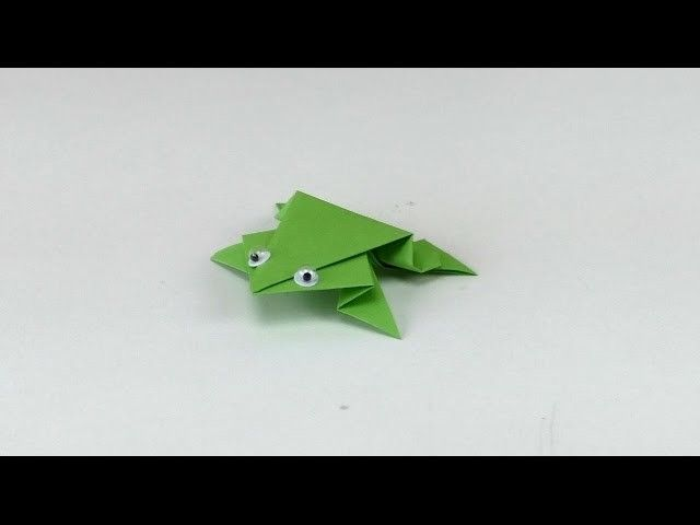 Re-upload - FROSCH Origami Tutorial. Frog Origami Folding Tutorial. Frosch Falten Anleitung