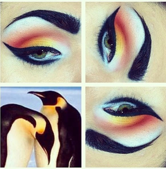 penguin makeup :)